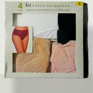 Karen Neuberger Microfiber With Lace Panties Sz S